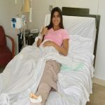 Lucía Aldana  se recupera tras sufrir accidente en un reality