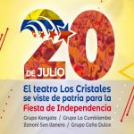 Teatro Los Cristales se viste de patria para la fiesta de Independencia