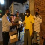 Donaron tapabocas a taxistas y agentes de tránsito
