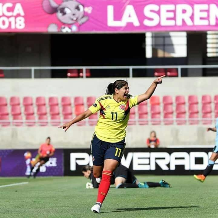 Catalina Usme del América femenino marcó gol del empate contra Chile