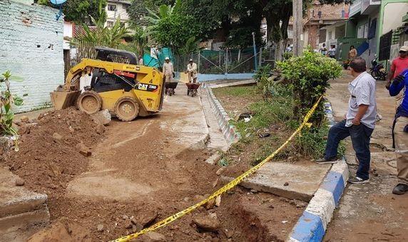 Cuadrillas de Infraestructura atendieron emergencia causada por aguacero del martes