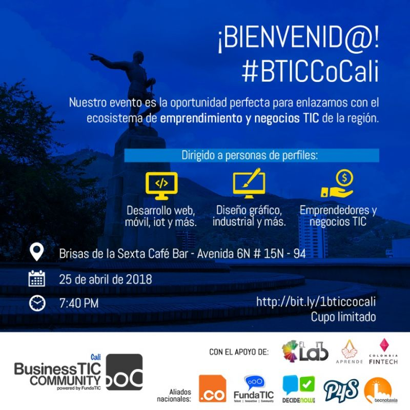 Este 25 de abril será el Business TIC Community Cali