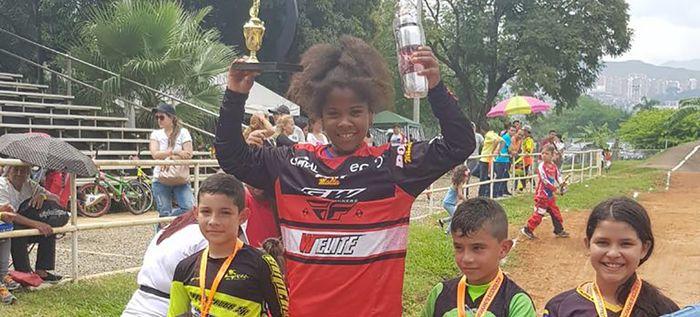 Guadalupe Palomeque se llevó la Copa Santiago de Cali en Bicicross