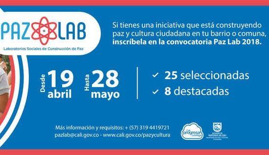 Convocatoria Paz Lab se prórroga hasta el 28 de mayo