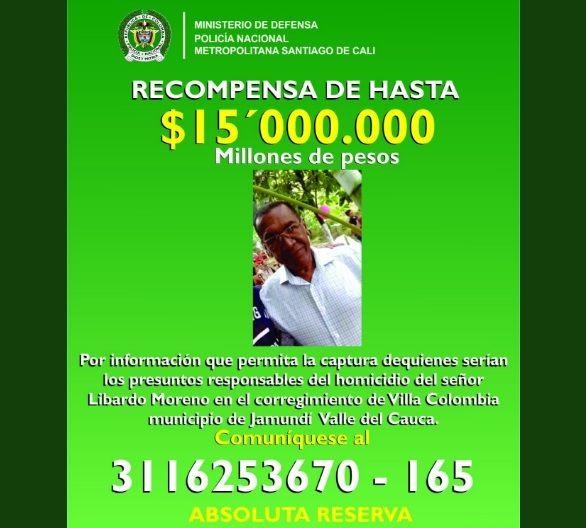 Hasta 15 millones de recompensa por información de homicidas del líder social de Jamundí