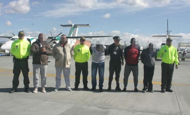 Capturados siete integrantes de red transnacional de narcotráfico solicitados en extradición