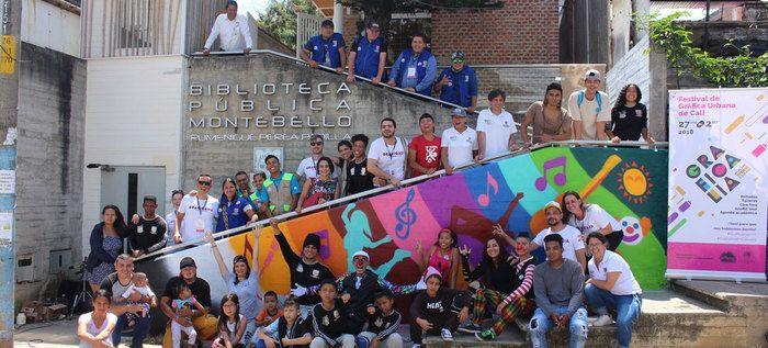 Artistas británicos y habitantes de Montebello hablaron en colores
