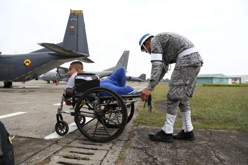 Así cumplió la Fuerza Aérea el sueño de a niños de Asodisvalle