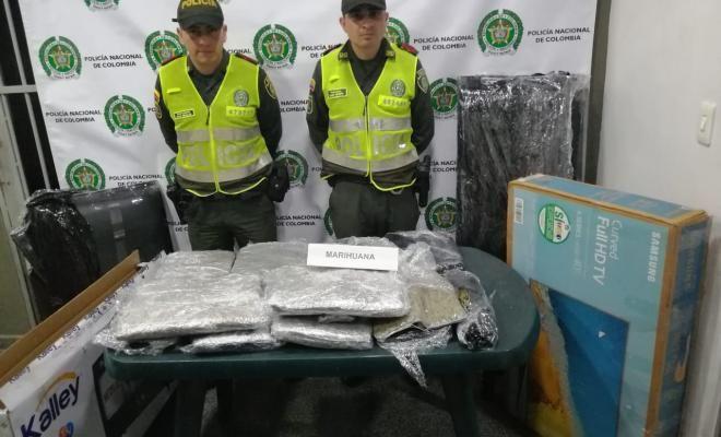 Transportaban marihuana en cajas de televisores