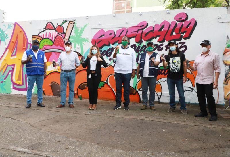 Graficalia sigue apostando por la paz desde el muralismo