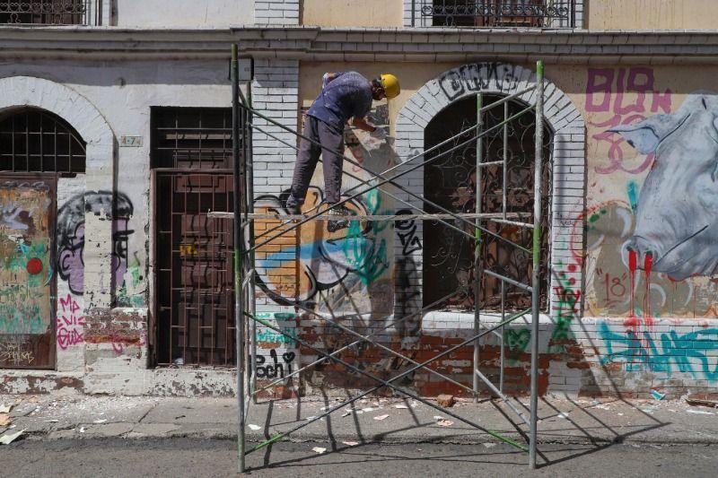 Recuperan fachadas de edificaciones en el Centro Histórico