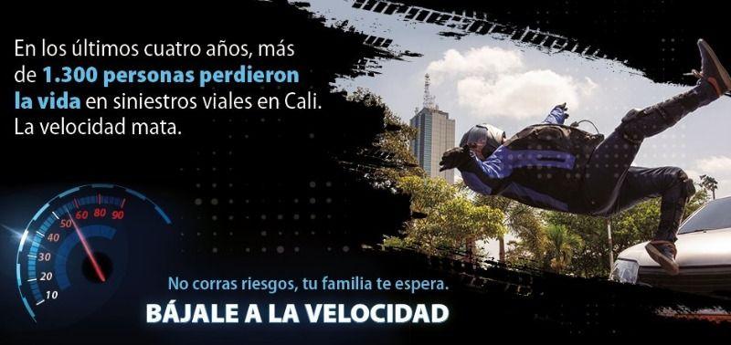 """""""Bájale a la velocidad"""": Nueva campaña de seguridad vial"""