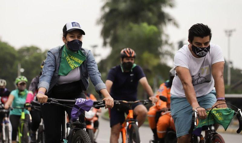Mujeres organizaron rodada por una vía segura y sin acoso