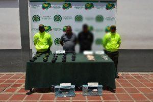 Capturados 2 hombres en el barrio La Paz por porte de 10.000 gramos de base de cocaína