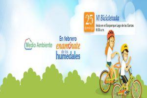 Dagma cerrará mes de los humedales con la sexta Bicicletada