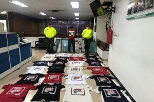 Policía Aduanera comisó más de 6 millones de pesos en ropa de marcas falsas