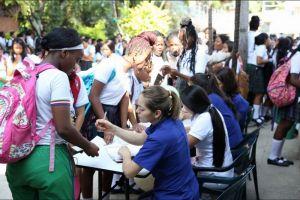 90% de la población objetivo ha recibido la vacuna contra el VPH en escuelas visitadas