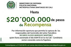 Policía ofrece recompensa por información que dé con homicidas del oficial Ricardo Márquez