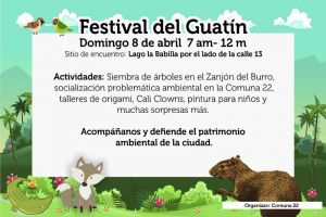 Con Festival del Guatín habitantes de la comuna 22 dirán no a intervención del Zanjón del Burro