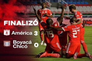 América se reivindicó y le ganó 3-0 al Boyacá Chicó