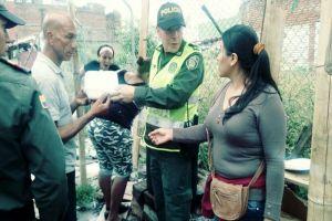 Alcaldía y  Policía organizaron almuerzo comunitario en sector El Calvario