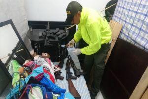 Policía halló arsenal de guerra en el barrio Marroquín