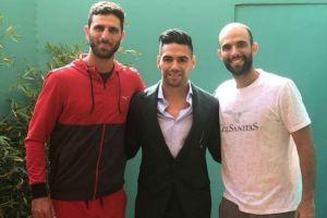 Falcao jugó al fútbol con los tenistas Juan Sebastián Cabal y Robert Farah en Mónaco