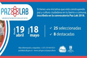 Este 18 de mayo cierra convocatoria Paz Lab