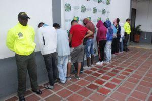 """11 capturados en desarticulación de banda """"El Hueco"""" que operaba en la Comuna 16"""
