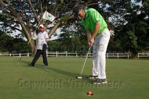 Juan Pablo Luna líder del Abierto de Golf Club Campestre de Cali