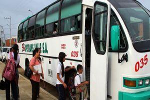 Alcaldía garantiza transporte escolar especial para el resto del año lectivo 2018