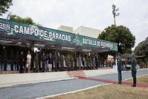 Transmisión de mando de la Tercera Brigada del Ejército Nacional