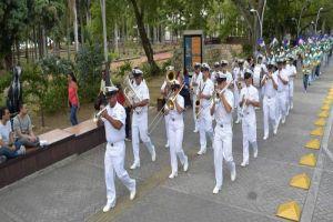 Visita de la Banda Marcial de la Fuerza Naval del Pacífico