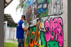 Festival Graficalia 2018 abre con colorido mural dedicado a Cali