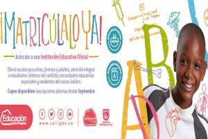El 3 de septiembre inician inscripciones en Instituciones Educativas Oficiales
