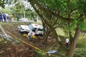 Choque de vehículo de la Cruz Roja Valle dejó una persona fallecida
