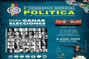 Llega a Cali el III Congreso Mundial de Marketing y Comunicación Política