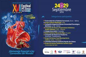 Festival IPC Danza con Colombia homenajeará los carnavales del mundo