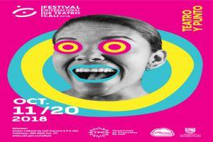 Este es el afiche oficial del Festival Internacional de Teatro de Cali 2018