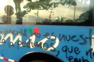 Buses del MIO fueron objeto de actos vandálicos por presuntos estudiantes