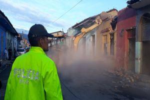 Demolidas tres casas en El Calvario que eran usadas para el microtráfico de drogas
