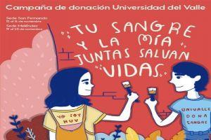 HUV y Univalle unidos en campaña para donar sangre