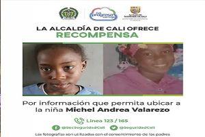 Alcaldía ofrece recompensa por información del paradero de una niña
