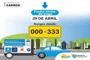 Se vence el plazo para pago del impuesto de vehículos