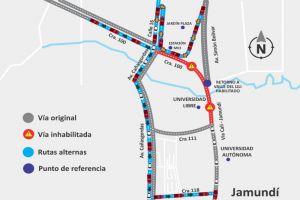 Vía Cali-Jamundí será cerrada temporalmente