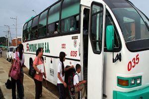 El transporte escolar comenzó a operar en todo el municipio