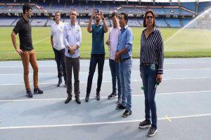 Comisión del fútbol brasilero visitó el Pascual Guerrero de cara a la Copa América