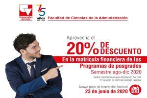 Univalle aprobó exenciones del 20% sobre matrículas de posgrados