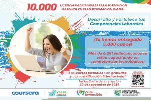 Vallecaucanos podrán acceder a 10 mil nuevos cupos para cursos de capacitación