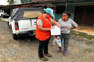 Grupo de migrantes venezolanos recibe atención humanitaria
